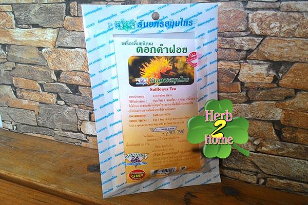 ชาชงดอกคำฝอย ธันยพร (20ซอง) บำรุงโลหิต บำรุงสายตา แก้ร้อนใน กระหายน้ำ