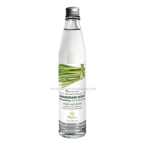 น้ำมันอโรม่า นวดตัว กลิ่นตะไคร้ 90 ml สกัดจากน้ำมันอัลมอนด์บริสุทธิ์ ไม่เหนียวเหนอะหนะ ป้องกันผิวความหยาบกระด้าง เป็นกลิ่นบำบัดที่ทรงคุณค่าต่อร่างกาย