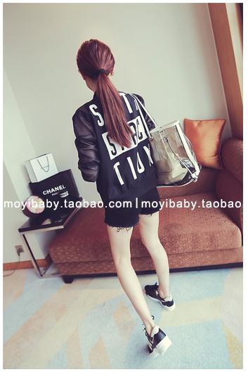 รับตัวแทนจำหน่ายเสื้อคลุมแฟชั่นเกาหลีแขนยาวสีดำเท่ห์มาก