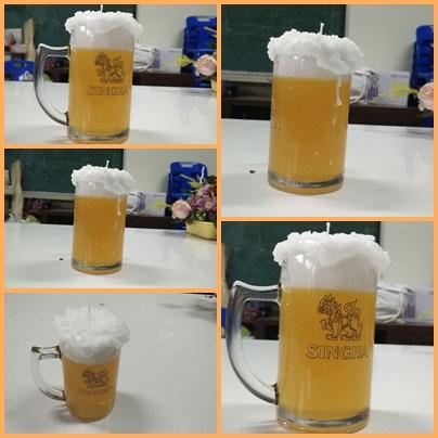 เทียนเบียร์พร้อมฟอง