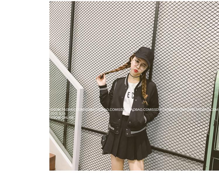 เสื้้อกันหนาวแฟชั่นเกาหลีสีดำเท่ห์ๆ