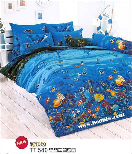 ชุดที่นอน-ชุดผ้าปูที่นอน ลายปะการังใต้ทองทะเล TT540