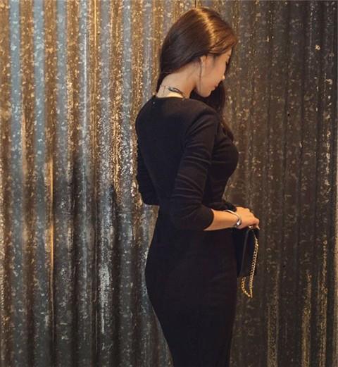 รับตัวแทนจำหน่ายชุดเดรสแฟชั่นเกาหลีสีดำ