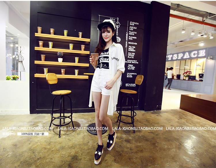 รับตัวแทนจำหน่ายเสื้อคลุมแฟชั่นเกาหลีแขนยาวสีขาวทรงยาว