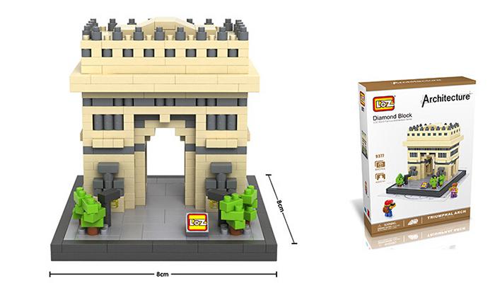 มินิบล็อก LOZ เลโก้จีน 9377 ราคาถูก Triumphal Arch ขนาด
