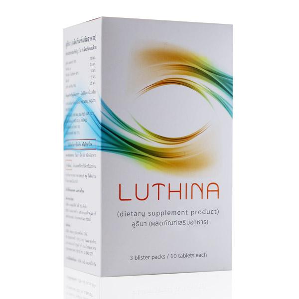 LUTHINA, ลูทิน่า,ผลิตภัณฑ์เสริมอาหาร,บำรุงสายตา,ลดอาการ,ตาอักเสบ,ตาพร่ามัว,วุ้นในตา