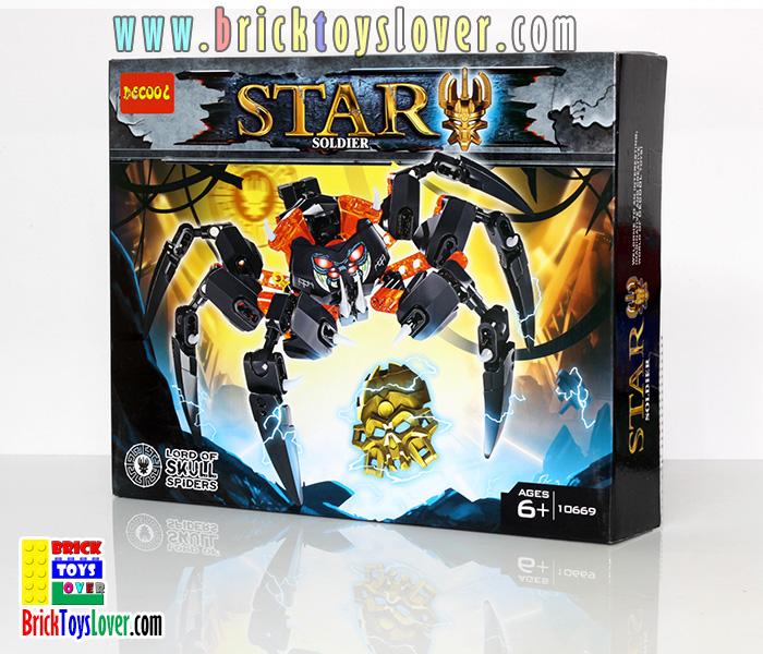 10669 Star Soldier โมเดลฟิกเกอร์ Lord of Skull Spiders จากเกมส์อภินิหารไบโอนิเคิล