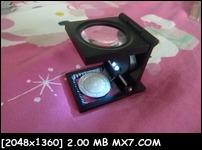 แว่นขยาย เลนส์แก้ว ทรงกลม ขยาย 15x มี สเกล เข็มนับ ไฟส่อง ( โครง ทำจากเหล็ก เป็นเหล็ก ) 650.- ส่งฟรี EMS