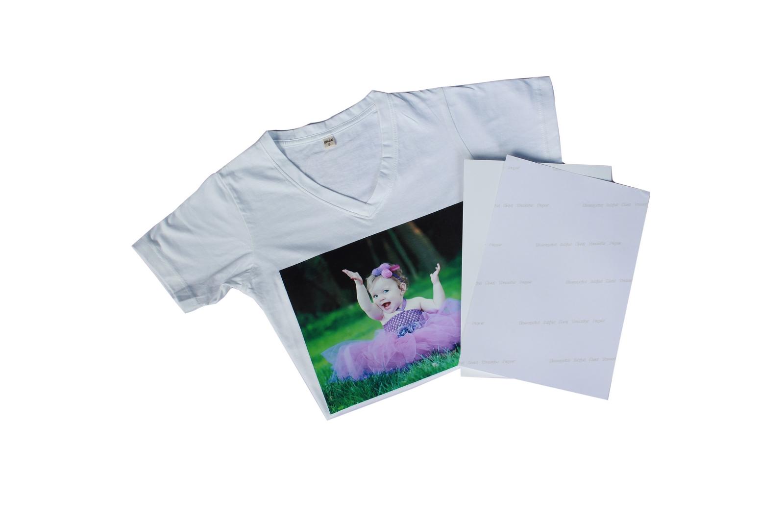 กระดาษพิมพ์ภาพลงเสื้อ ลอกลายลงเสื้อ สำหรับผ้าขาว ขนาด A4
