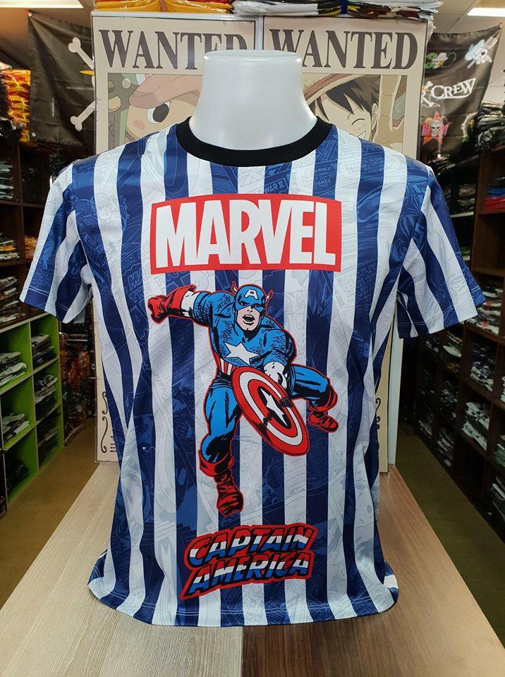 มาร์เวล ผ้า premium SCUBA (Captain America blue and white CODE:1379)