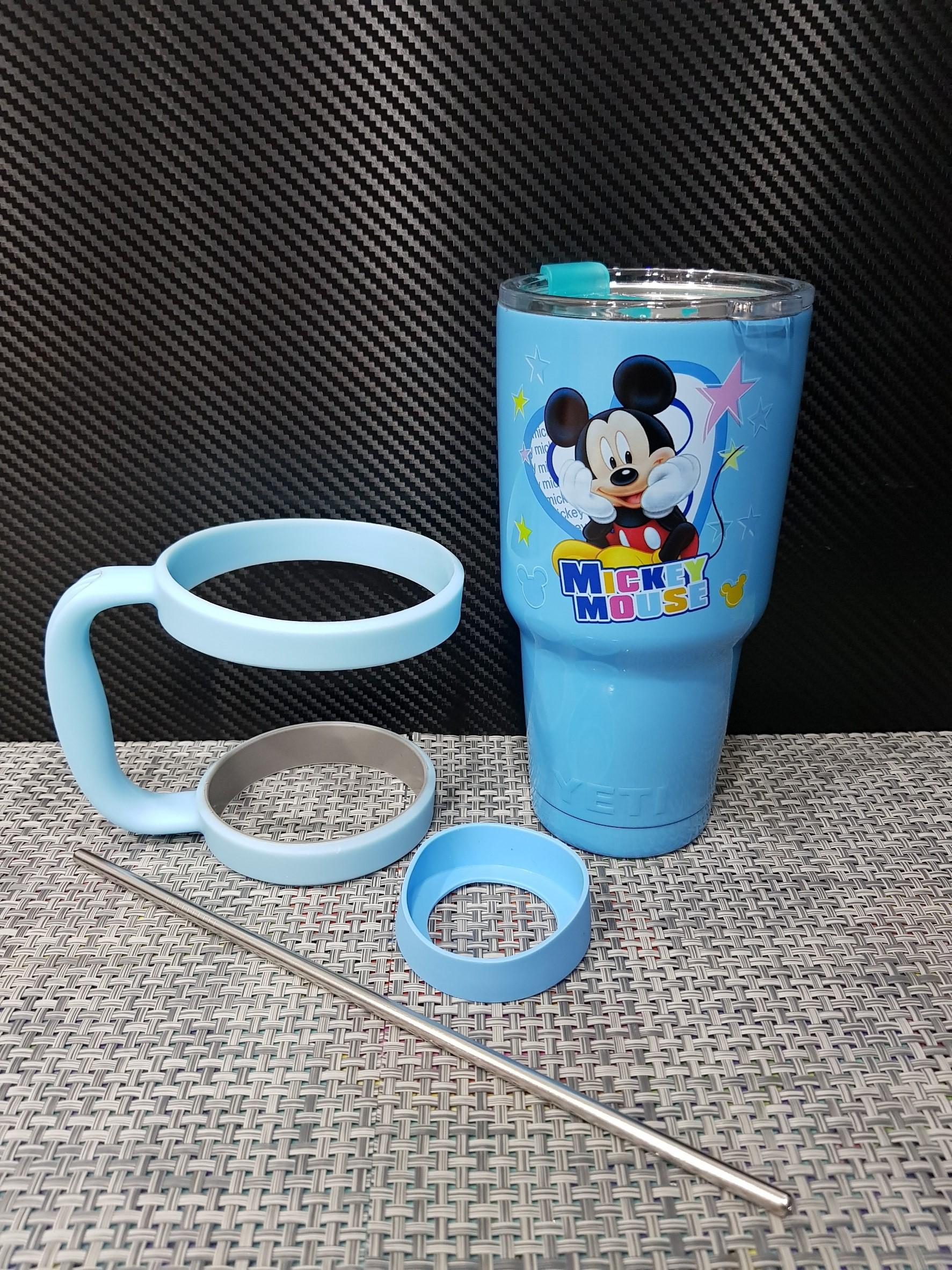 ชุดแก้วเยติ 30 ออนซ์ พื้นสีฟ้า ลายการ์ตูน มิกกี้เม้าส์เท้าคาง