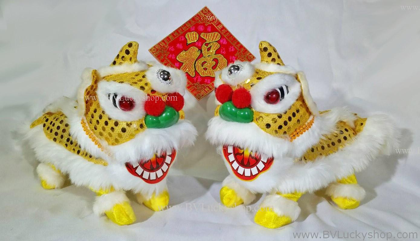 ตุ๊กตา เชิดสิงโต เดินได้ มีเสียง - 1คู่ (2ตัว) - สีทอง [Lion-Gx2] ***สินค้าพร้อมส่ง***
