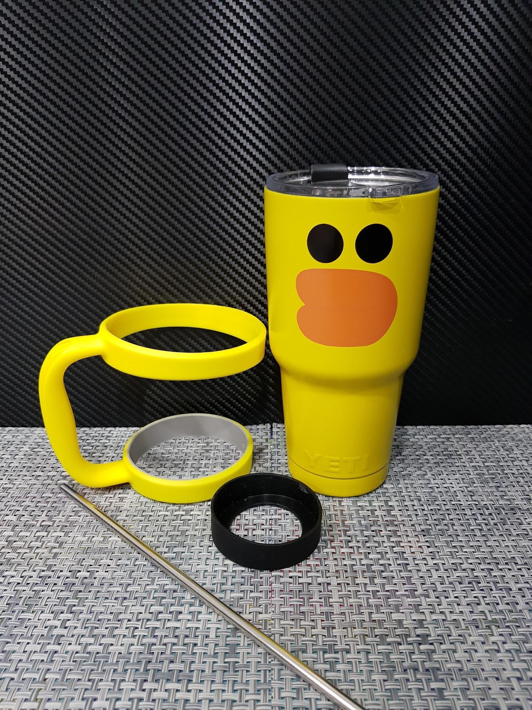 ชุดแก้วเยติ 30 ออนซ์ พื้นสีเหลือง ลายการ์ตูน เป็ดเหลือง
