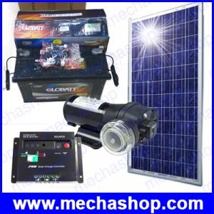 ชุดมินิปั้มน้ำ ดีซี ระบบโซล่าเซลส์ พลังงานแสงอาทิตย์ ปั้มน้ำแรงดันสูง Solar panel power mini diaphragm pump Flow 17LPM 40psi 12V 6A