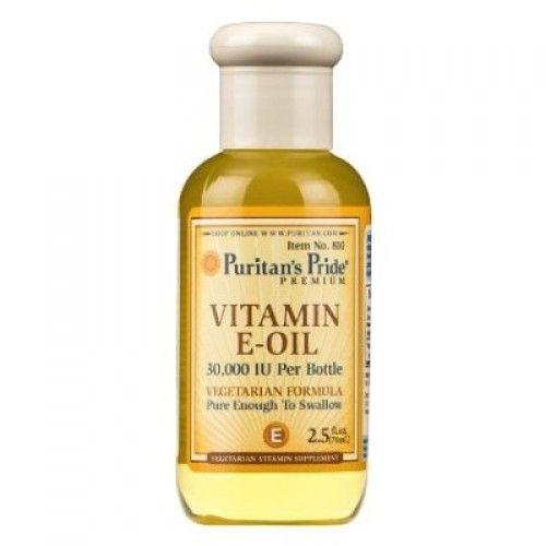 Puritan's Pride Vitamin E Oil 30,000 IU 74 ml. น้ำมันวิตามินอีแบบรับประทาน หรือจะใช้เป็นออยล์บำรุงก็ใช้ได้ตั้งแต่ศีรษะจรดปลายเท้าค่ะ