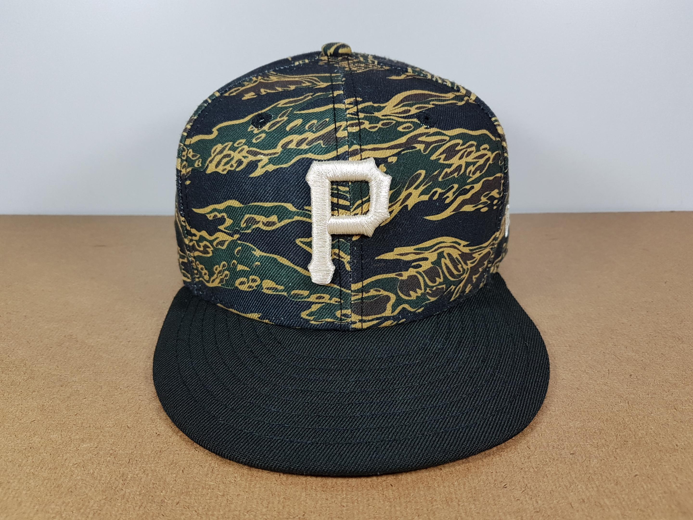 New Era MLB ทีม Pittburgh Pirates ลาย Camo ฟรีไซส์ Snapback
