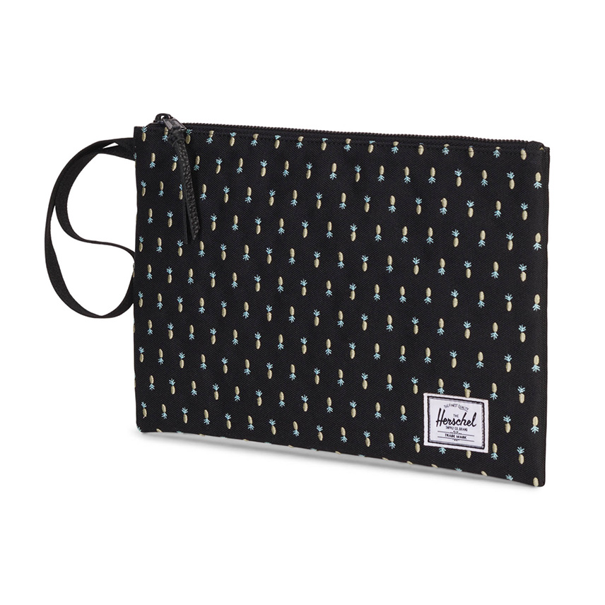 Herschel Network Pouch | L - Black Pineapple - Embroidery Collection - ด้านข้าง