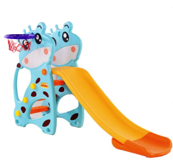 สไลเดอร์ 2 อิน 1 สำหรับเด็ก Mini Playground Set ยีราฟ พร้อมห่วงบาส