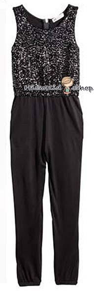 1113 H&M Jumpsuit - Black ขนาด 8-9,9-10 ปี
