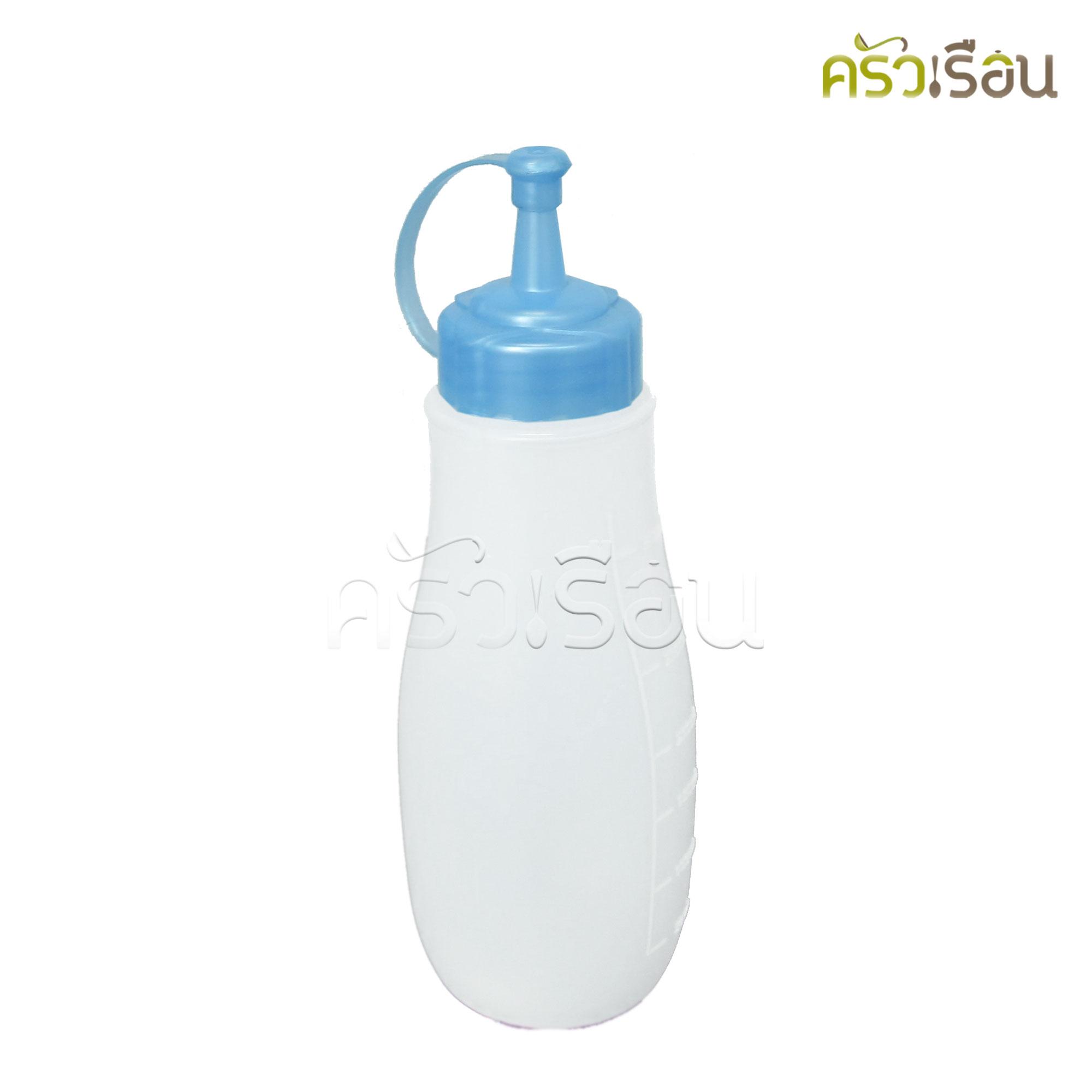 Reangwa Standard - ขวดซอสพลาสติก ฟ้า 350 ml. 9052