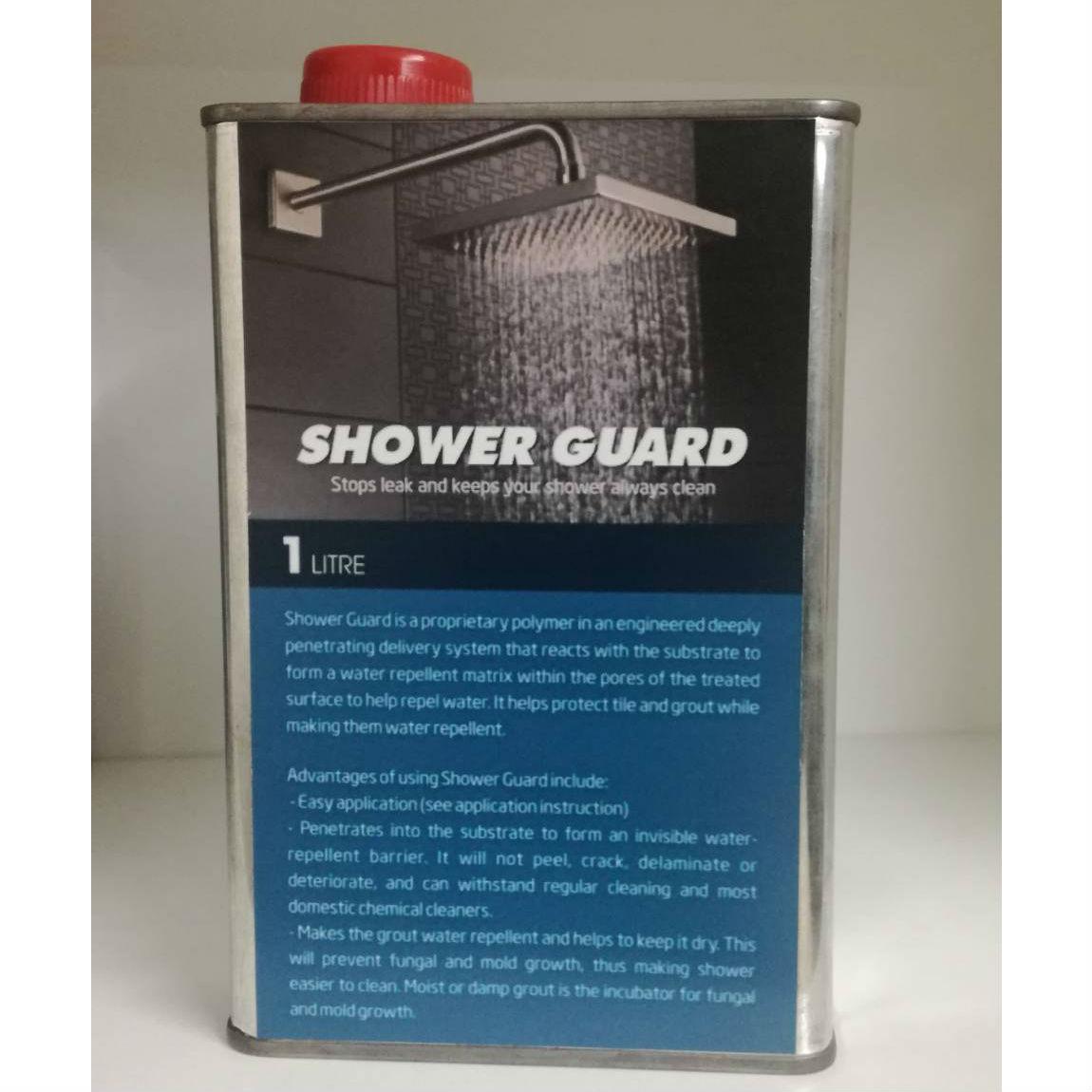 น้ำยากันซึมชาวเวอร์การ์ด (SB) ขนาด 1ลิตร สำหรับป้องกันและซ่อมห้องน้ำรั่วซึมโดยไม่ถอดรื้อกระเบื้อง