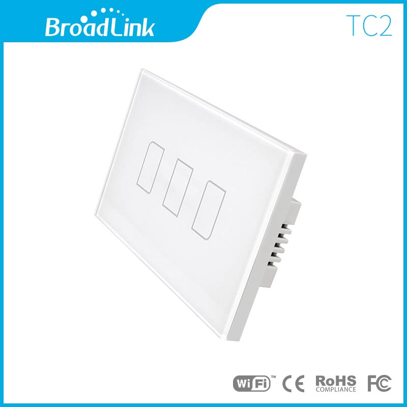 ฺBroadLink สวิตไฟฟ้าระบบสัมผัส 3 ปุ่มกด