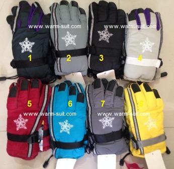 ถุงมือ สปอร์ตเด็กโต 6-12 สีสันสดใส บุผ้าวุลด้านใน