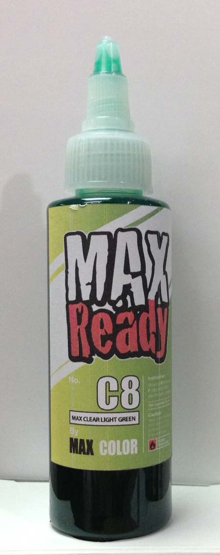 max C08 clear light green