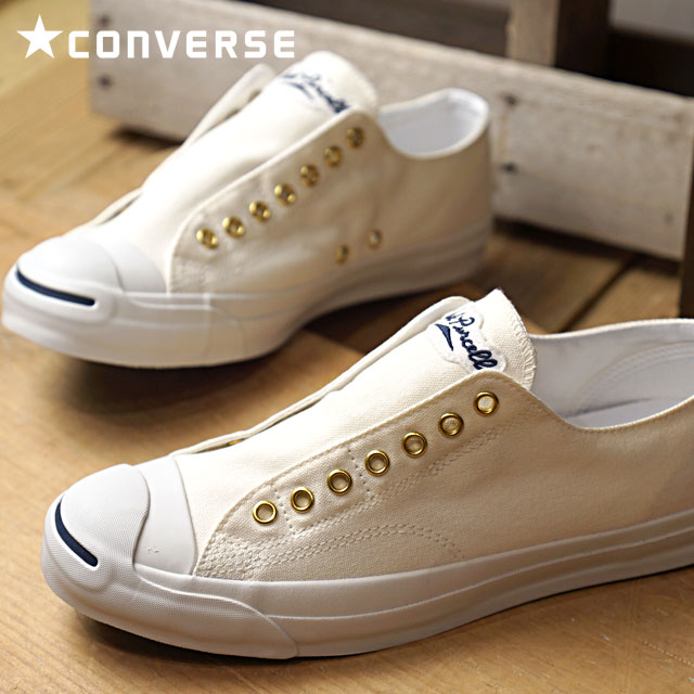 CONVERSE JACK PURCELL LETTERDWAPPEN SLIP ON - OFF WHITE - Converse ... d38f45fee