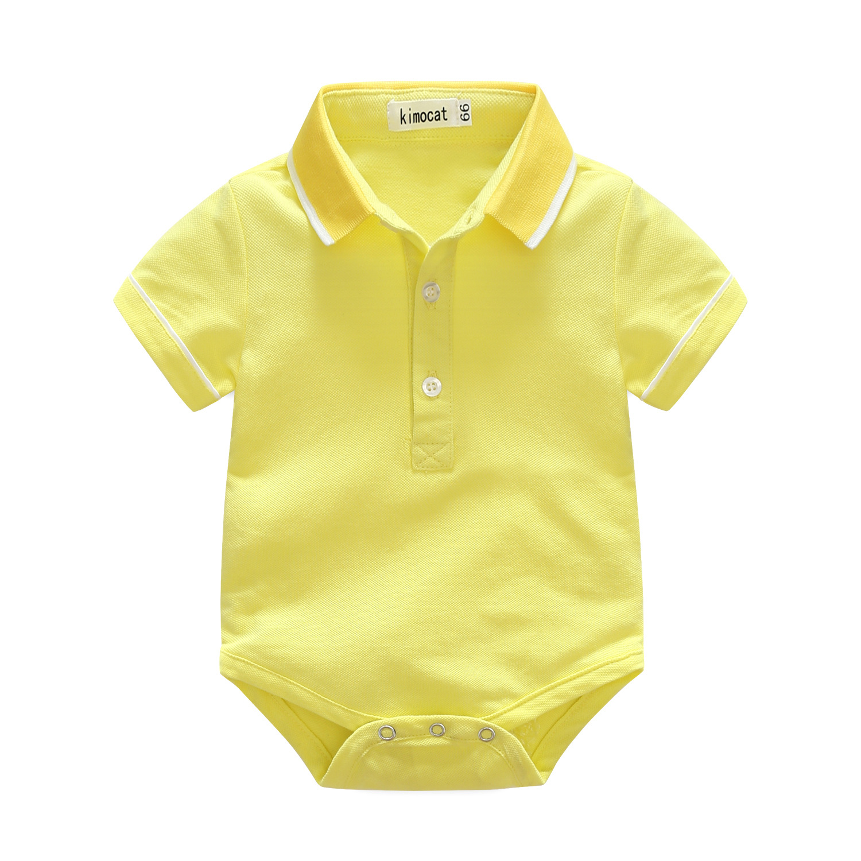 บอดี้สูทเด็ก โปโล คอปก สีเหลือง