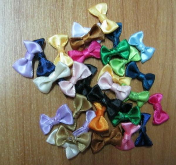 โบว์ผ้าซาติน คละสี ชุด 5 ชิ้น (งานนอก)