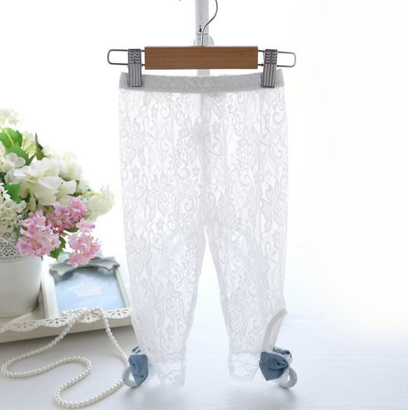 กางเกง ลูกไม้ สีขาว แพ็ค 5ชุด ไซส์ 100-110-120-130-140
