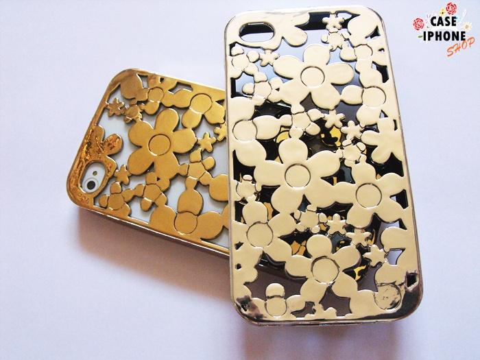 เคสยางนิ่ม ลายดอกไม้ Iphone 4/4s