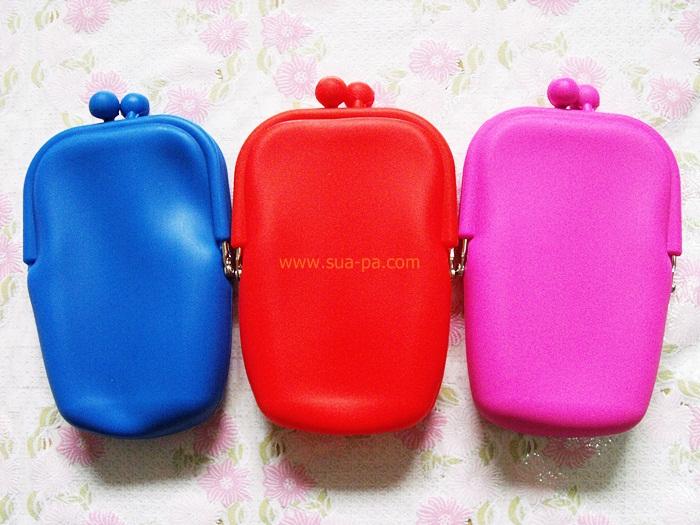 กระเป๋าใส่มือถือซิลิโคน ขนาด 9*14 cm
