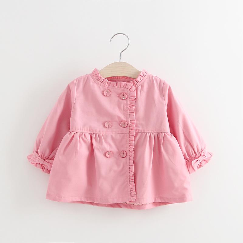 เสื้อกันหนาวสีชมพูแต่งกระดุมติดเพชร [size 1y-2y-3y-4y]