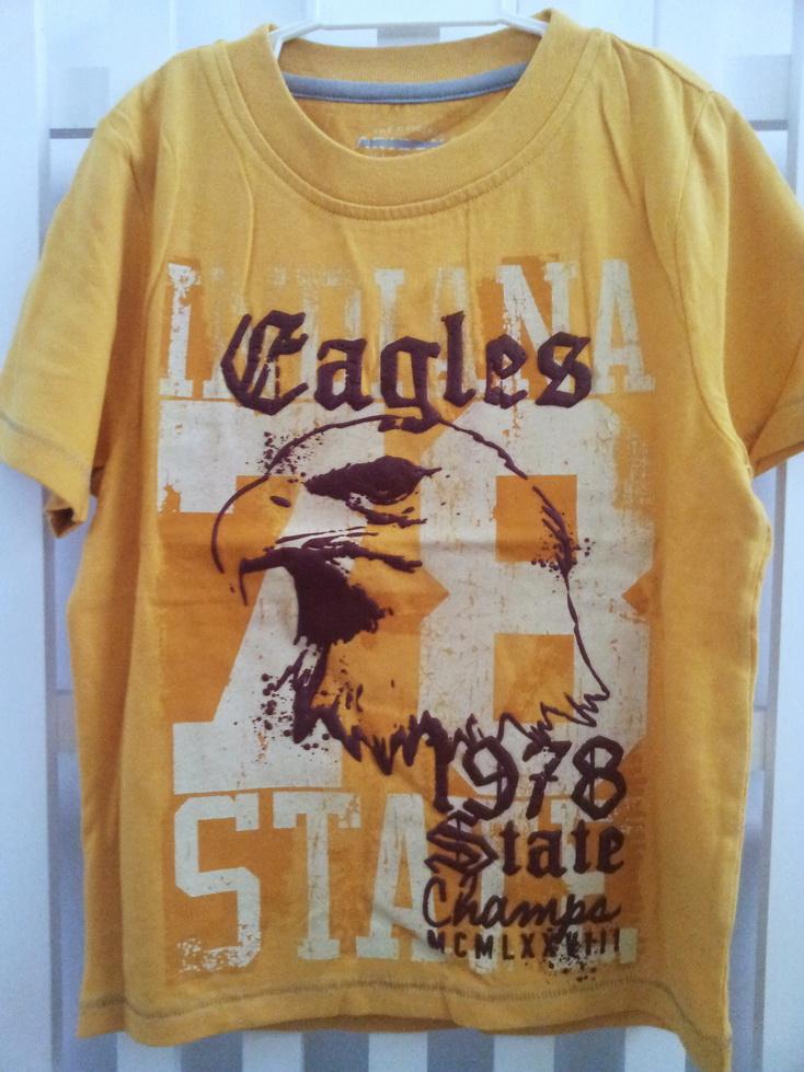 AZ09 Arizona เสื้อผ้าเด็กชาย เสื้อยืดคอกลมสกรีนลายเท่ห์ ๆ แบรนด์อเมริกัน เนื้อนิ่มมาก ใส่สบายสุด ๆ สีเหลือง Size M / L / XL (สินค้าขีดป้าย)
