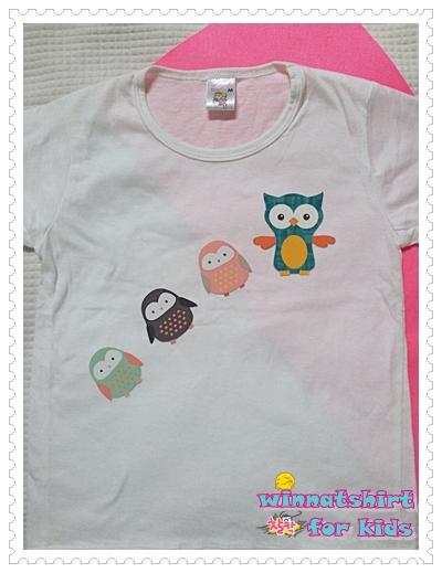 เสื้อยืดเด็ก ลายนกฮูก แบบที่ 7 Size M