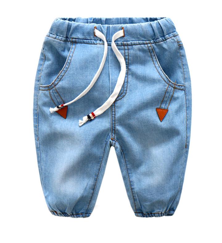 กางเกง สีฟ้า แพ็ค 6 ชุด ไซส์ 90-100-110-120-130-140
