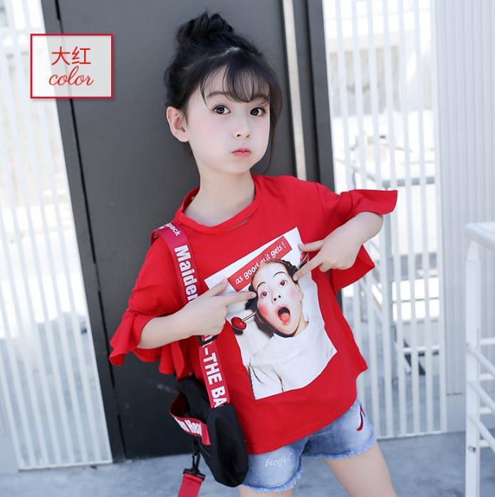 เสื้อ สีแดง แพ็ค 6 ชุด ไซส์ 110-120-130-140-150-160 (เลือกไซส์ได้)