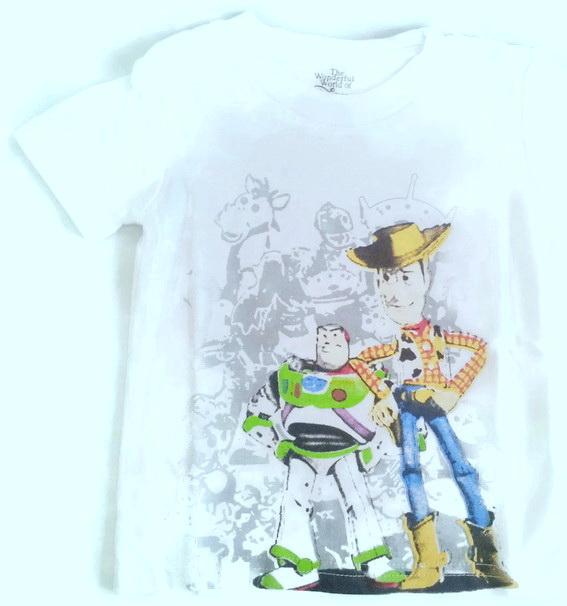 WD6 The Wonderful World Of Disney เสื้อยืดเด็ก แขนสั้น สีขาว Toy Story Cotton 100% เหลือ Size 18M และ 2Y