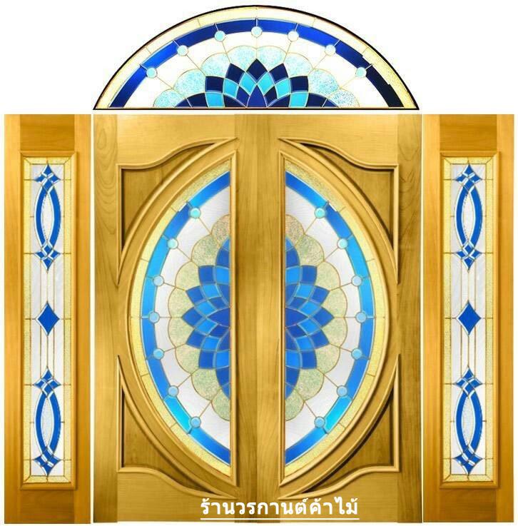 กระจกนิรภัยสเตนกลาส สีน้ำเงิน ชุด5ชิ้น รหัส G21