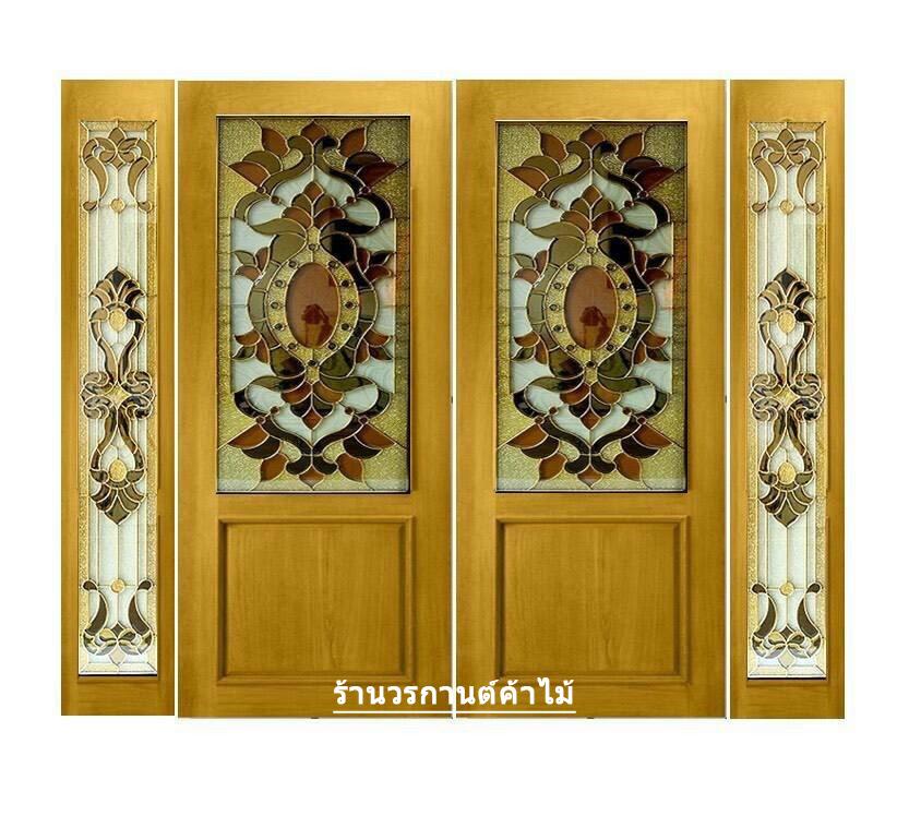 กระจกนิรภัยสเตนกลาส รางทอง ชุด4ชิ้น รหัส G27