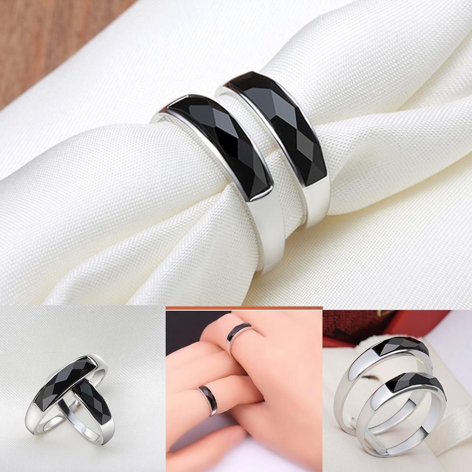 แหวนมณีนิลขนาดหน้ากว้าง 5 x 17 mm