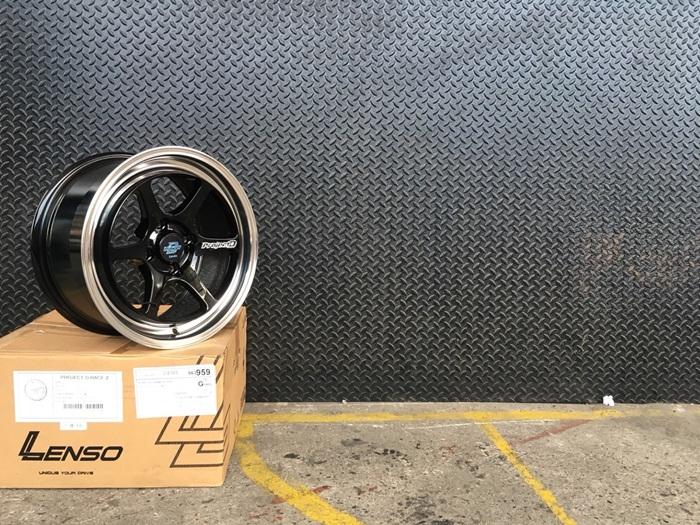 PROJECT-D-RACE-2 ขอบ15 นิ้ว สีดำขอบเงา