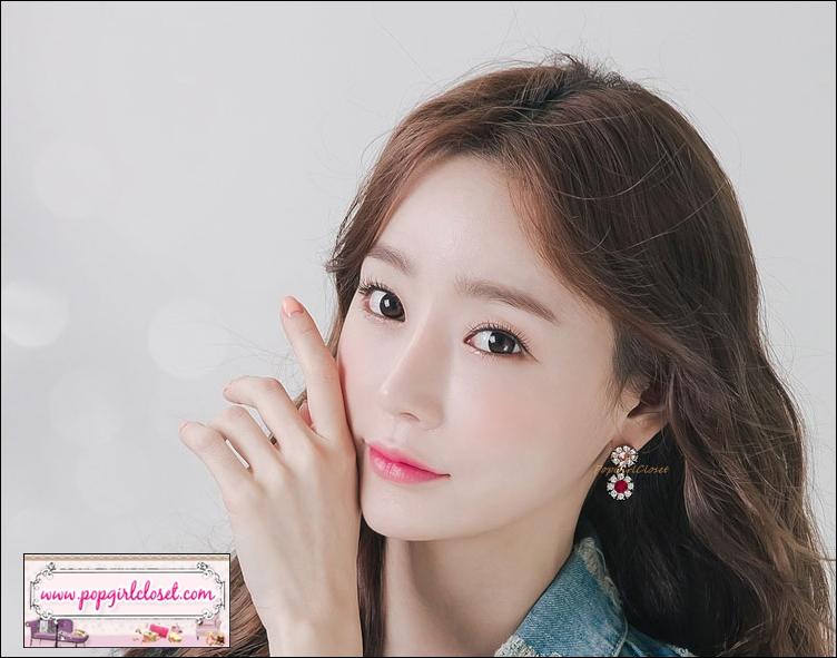 ต่างหูแฟชั่นสไตล์เกาหลี Luxury Crystal Rhinestone Flower Earrings Dangle Earring Jewelry