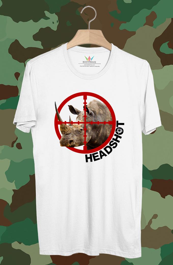 BP302 เสื้อยืด Head Shot Rhino