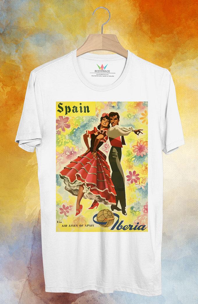 BP129 เสื้อยืด Retro City : Spain