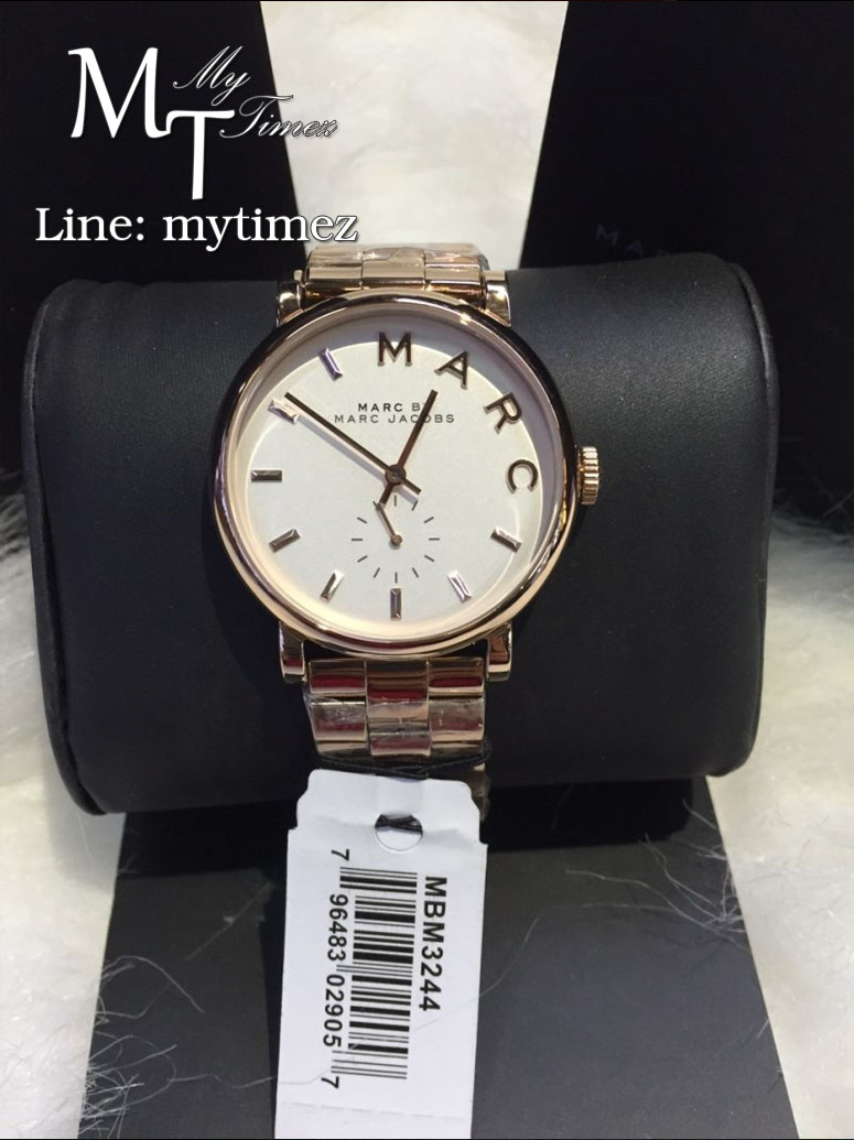 MARC BY MARC JACOBS Baker White Dial Rose Gold Ladies Watch MBM3244