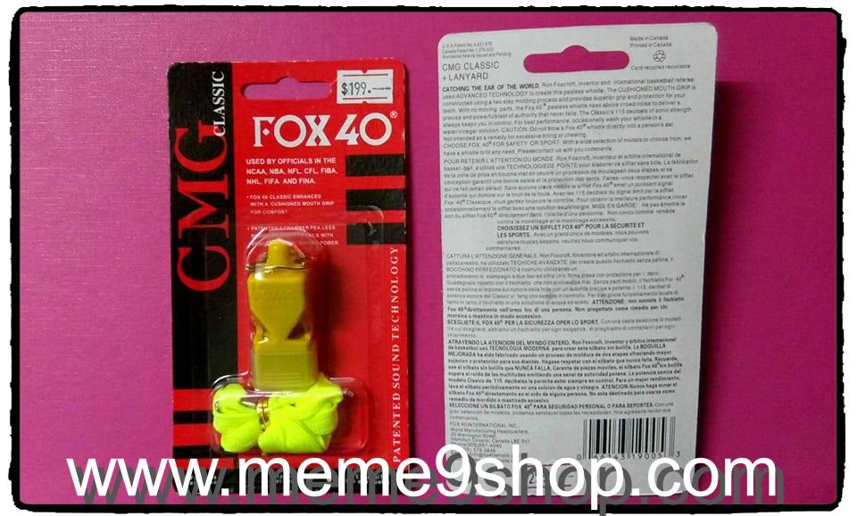 นกหวีด Fox40 CMG (สีเหลือง)