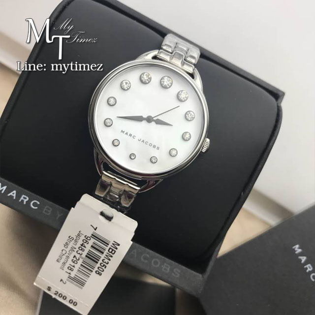 MARC BY MARC JACOBS Betty White Mother Of Pearl Dial Ladies Watch MBM3508